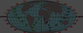 Globe: Latitudes and Longitudes